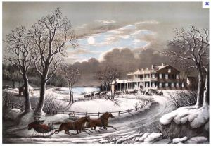 """American Winter Scene"" Currier & Ives"