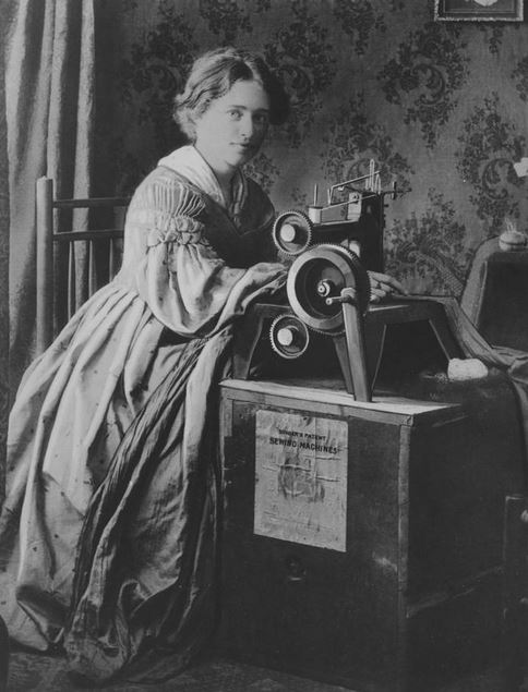 woman at sweing machine