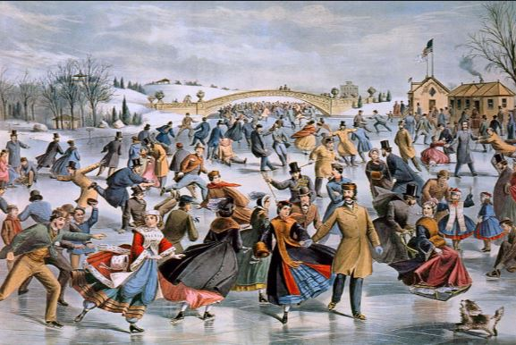 Skating in Central Park Currier & Ives